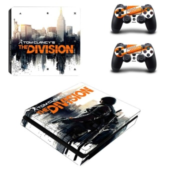 Tom clancy's the division Design Game Vinyl Skin Sticker for Sony Playstation 4 Slim PS4 Slim Console & 2pcs Controller Protection Film Stickers YSP4S-0253 - intl