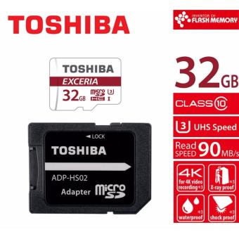 Toshiba Exceria M302 32GB Micro SDHC 90MB/sec Class 10 UHS-III (UHS Speed Class 3) Card with SD Adapter