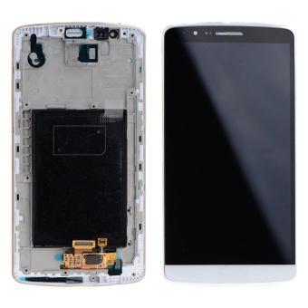 Touch Screen Glass Digitizer LCD Display Assembly With Frame For LG G3 - intl