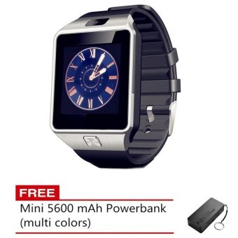 "Touch Screen Smart Watch C-005 1.56"" TFT LCD (Black) with FREE Mini 5600 Powerbank"