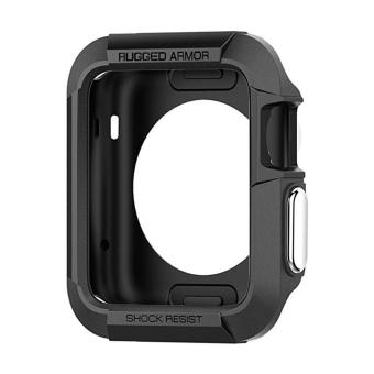 Tough Armor Apple Watch Case with Resilient Shock Absorption Protection for 42mm Apple Watch (Black) - intl
