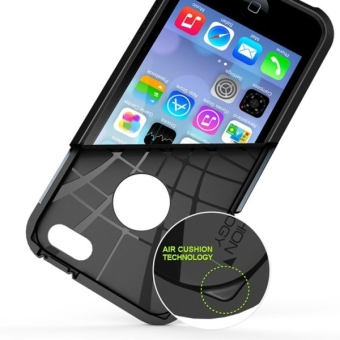 Tough Armor Plastic + TPU Case for Apple iPhone 5 / 5s / SE (Black) - intl - 5