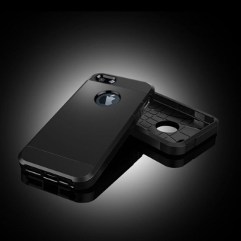 Tough Armor Plastic + TPU Case for Apple iPhone 5 / 5s / SE (Black) - intl - 3