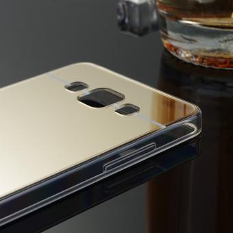 TPU Bumper Frame Mirror Effect PC Case Cover For Samsung Galaxy A5 (2015) (Silver) - intl - 4