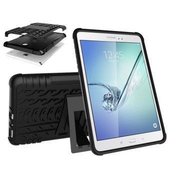 TPU Dual Layer Grip Cover with Kickstand for Samsung Galaxy Tab A 8.0 Inch Tablet SM-T350 (Black) - 2