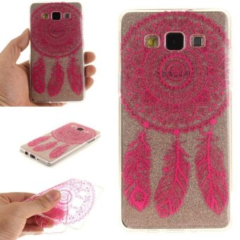 TPU Flexible Soft Case for Samsung Galaxy A5 2015 (Rose RedCampanula) - intl