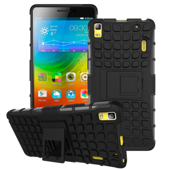 TPU + PC Armor Hybrid Case Cover for Lenovo A7000 / Lenovo K3 Note(Black)