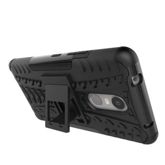 TPU + PC Armor Hybrid Case Cover for Lenovo K6 Note (Black) - 3