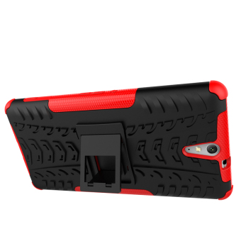 TPU + PC Armor Hybrid Case for Sony Xperia C5 Ultra (Red) - 4
