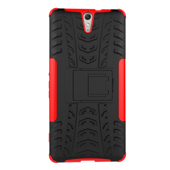 TPU + PC Armor Hybrid Case for Sony Xperia C5 Ultra (Red) - 5