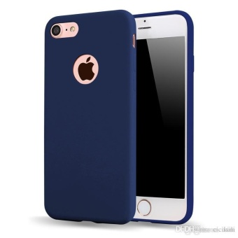 Tpu Silicon Candy Style Soft Case Cover For Iphone 5S / Iphone Se(Navy Blue) With Free Fidget Spinner Polkadots (Color Vary)