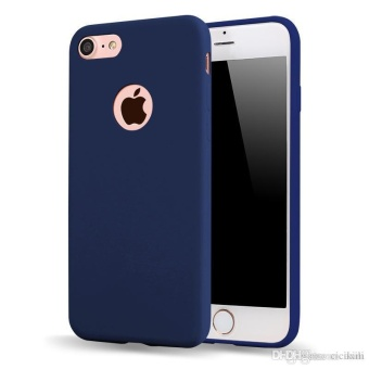TPU Silicon Candy Style Soft Case Cover for Iphone 7 (Navy Blue)