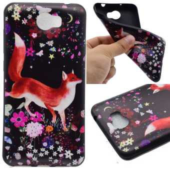 TPU Silicone Case Cover for Huawei Y5 II / Y5 2 (Fox Flowers) -intl