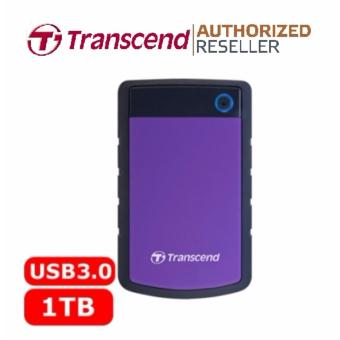 Transcend StoreJet Rugged Compact 25H3P 1TB 3.0 Portable Hard Drive (Purple) + 3 YEARS WARRANTY