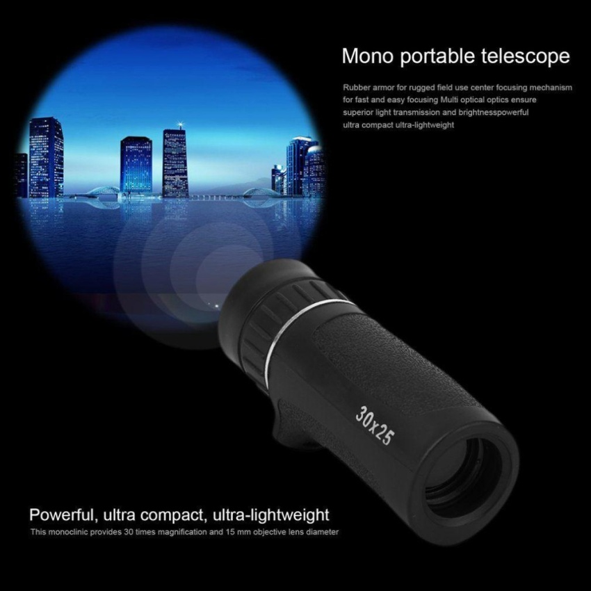 Travel Monocular Night Vision Wide Angle Zoom Telescope 30X25Outdoor Camping - intl