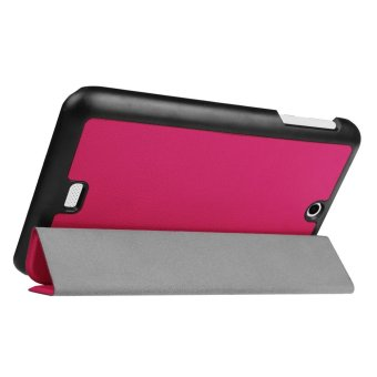 Tri-fold Leather Stand Cover Case for Acer Iconia One 7 B1-770 -Rose - intl - 3