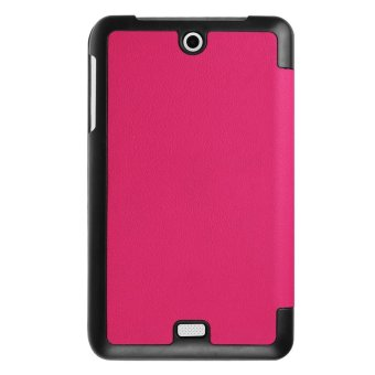 Tri-fold Leather Stand Cover Case for Acer Iconia One 7 B1-770 -Rose - intl - 2