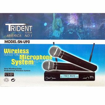 Trident SN-U90 Dual Wireless Microphone Handheld System