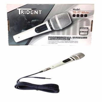 Trident TR-97 Professional Dynamic Wired Microphone (White)