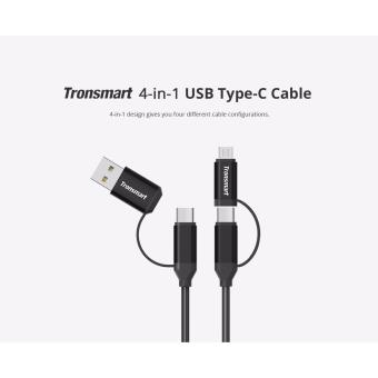 Tronsmart C4N1 4-in-1 Type-C Cable (w/ Built-in Micro USB and USB-AAdaptors)