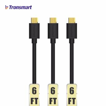 Tronsmart MUPP2 20AWG 6ftx3/1.8Mx3 Premium Cable Gold PlatedDurable Male USB to Micro USB Charging Cable 3-Pack (Black) Price Philippines
