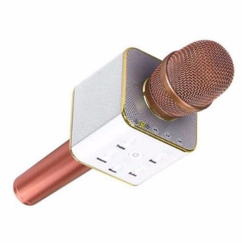 TUXUN Q7 Mini KTV Karaoke Wireless Bluetooth Microphone with Mic Speaker Condenser (Rose Gold)