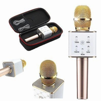 Tuxun Q7 Mini Ktv Karaoke Wireless Bluetooth Microphone With MicSpeaker Condenser (Gold)