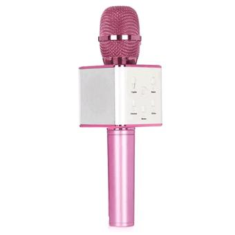 TUXUN Q7 Mini KTV Karaoke Wireless Bluetooth Microphone with MicSpeaker Condenser (Pink)