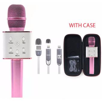 TUXUN Q7 Wireless KTV Karaoke Microphone Bluetooth Speaker(Pink)with 2 in 1 USB Cord Color May Vary