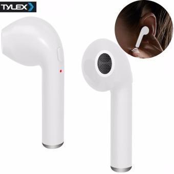 Tylex i7 Wireless Bluetooth Music and Call Earphone (White)
