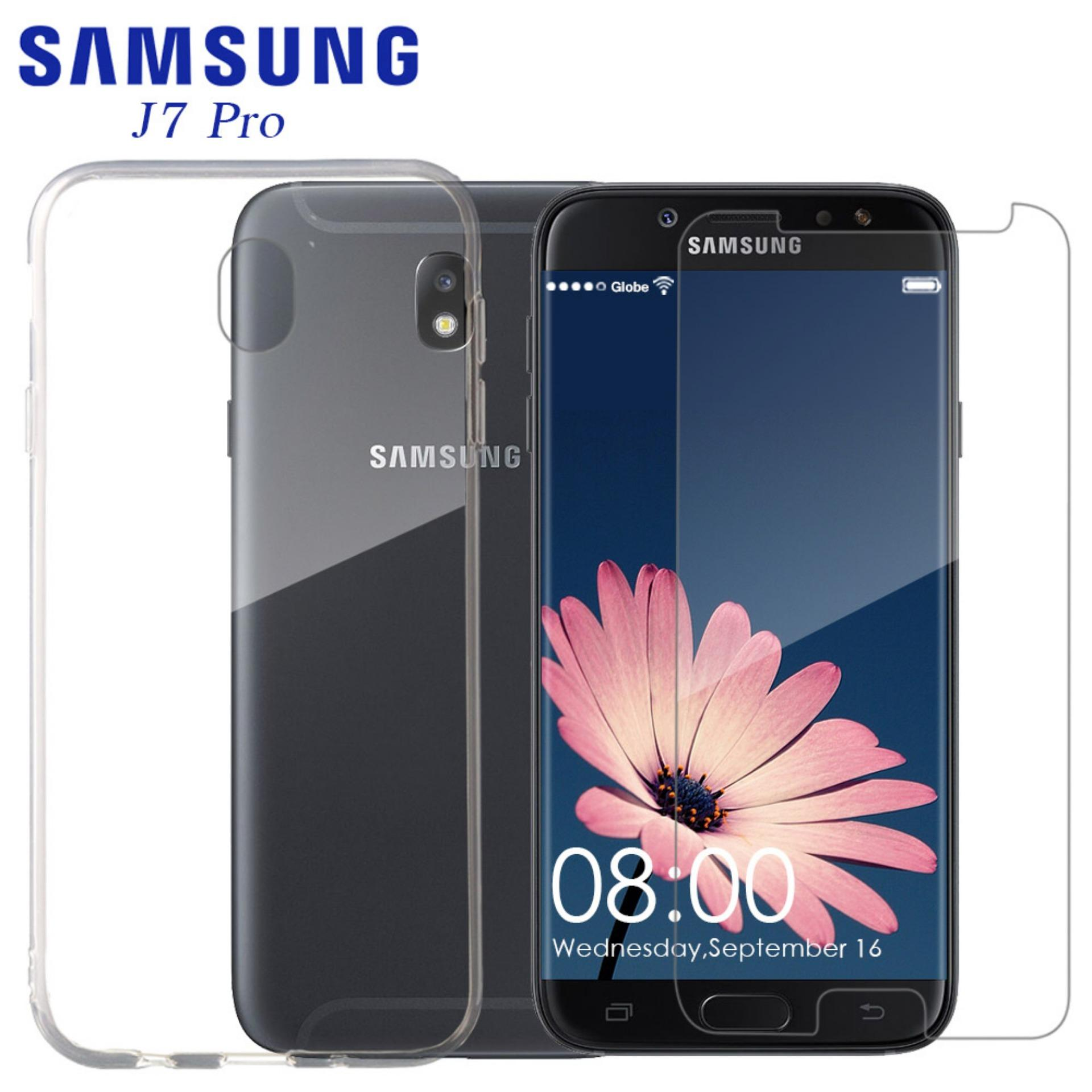 Tylex Tempered Glass 2 Pcs with FREE Jelly Case For Samsung J7 Pro