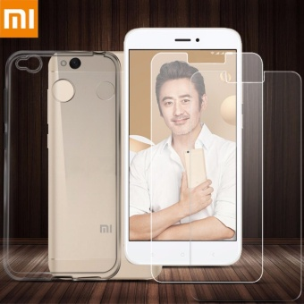 Tylex Tempered Glass & Jelly Case For Xiaomi Redmi 4X (Clear)