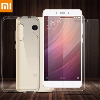 Tylex Tempered Glass & Jelly Case For Xiaomi Redmi Note 4 (Clear)