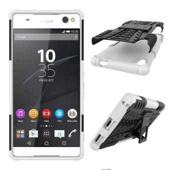 Tyre Pattern Kickstand PC + TPU Hybrid Phone Case for Sony XperiaXA Ultra - White - intl - 2