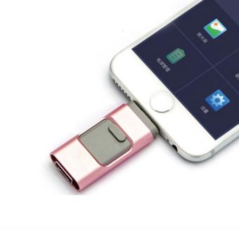 U-Disk Metal Pendrive otg USB Flash Drive for IPhone Memory Stick(128GB)Pink - 2