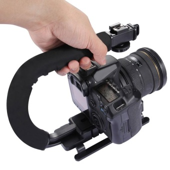 U Shape Bracket Video Handle Handheld Steadicam Stabilizer for DSLR Camera - intl