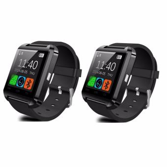 U8 Bluetooth Android Smart Mobile Phone Wrist Watch (Black) Set of2