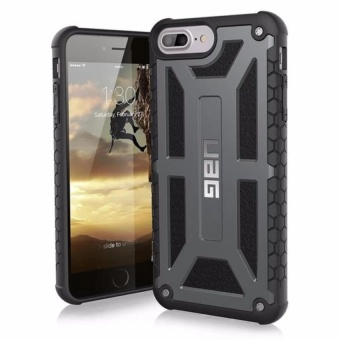 Uag Monarch Design Armour Case For Iphone 7 (Grey) With Free Earphone