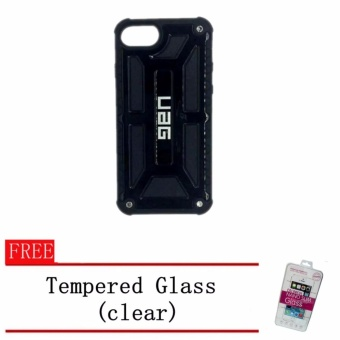 Uag Monarch Design Armour Rubber Case For Iphone 7 Plus With Free Tempered Glass Plus Free 1 Unique Phone Ring Stand