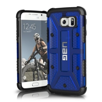 UAG Plasma Series TPU Rubber Case For Samsung Galaxy S6 Edge (Blue)with Free Phone Ring stand