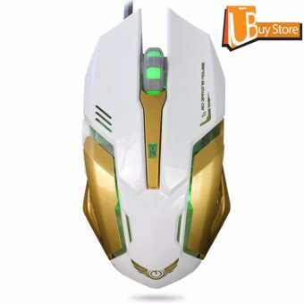 UBUY Backlight RGB Gaming Mice LED USB Wired Programmable PC GamingMouse - intl