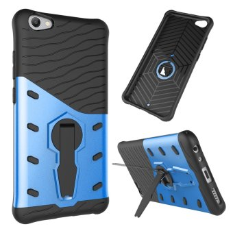 UEKNT Heavy Duty Rugged Armor Shockproof Case with 360 Degree Swivel Rotating Kickstand Cover Case for Vivo V5s (Blue) - intl