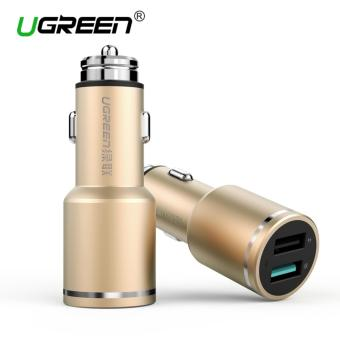 Ugreen Car Charger Quick Charge 3.0 Car Charger 4.8A 24W Dual USBSmart Charger Fast Phone Charger for iPhone/Android Smart Phones -intl
