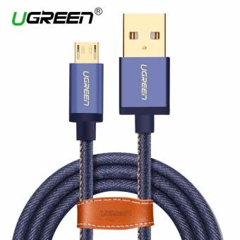 UGREEN Micro USB 2.0 Cable Denim Braided Sync and Fast ChargingData Cable for Android Mobile Phone - 1M - intl