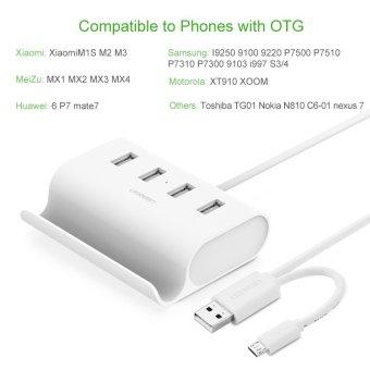 UGREEN Micro USB 4 Port OTG HUB with Phone Stand - 3