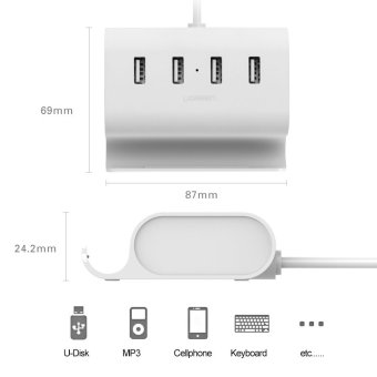 UGREEN Micro USB 4 Port OTG HUB with Phone Stand - 4