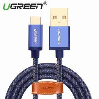 UGREEN Type C Cable Denim Braided Sync and Fast Charging Data Cablefor Android Mobile Phone - 2M - intl