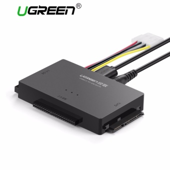 UGREEN USB to IDE Converter, USB 3.0 to SATA and IDE, Hard DriveAdapter for 2.5/3.5 inch IDE,SATA HDD SDD,CD/DVD ROMCD-RW,COMBO,DVD-RW.DVD-RAM with 12V2A power adapter and 4pin PowerCable ,with ON/OFF Swith UK Plug - intl