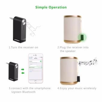 UGREEN V4.1 Wireless Bluetooth Audio Music Receiver without Mic3.5mm Hands-free Function - intl - 5