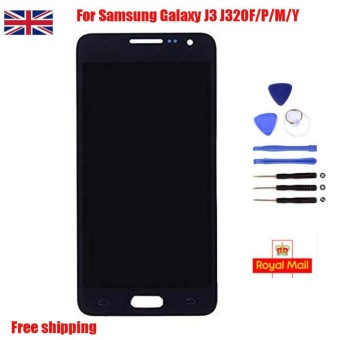 UK Black LCD Display Touch Screen Digitizer for Samsung Galaxy J3 J320F/P - intl